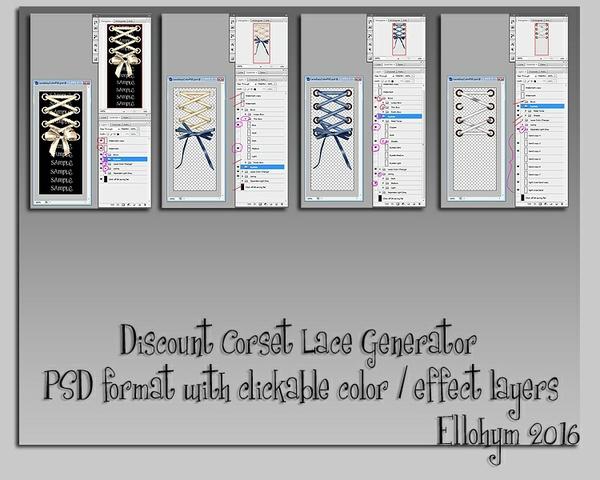 Ellohym - Discount Corset Lace Generator - PSD
