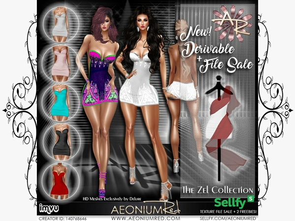 IMVU: Zel 6 Cocktail Mini Dresses + 2 Freebies