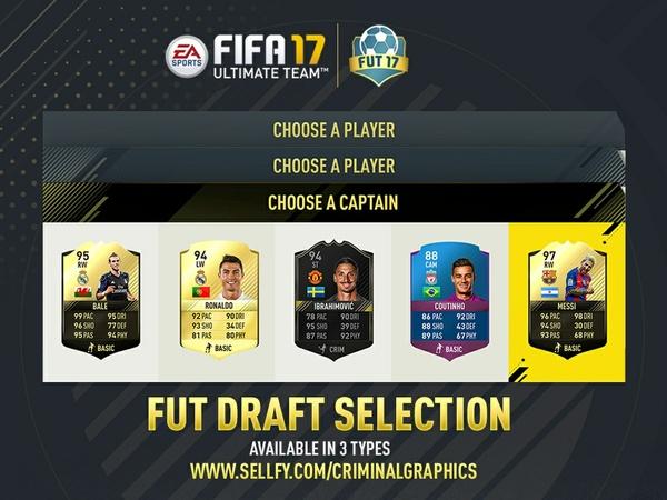 FIFA 17 CUSTOM FUT DRAFT SELECTION
