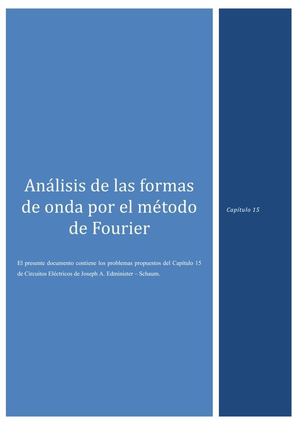 Capítulo 15 - Análisis de las formas de onda por el método de Fourier