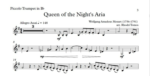 Mozart KV620 Queen Of The Night Aria Accompaniment mp4 video, mp3 & pdf solo sheet music.