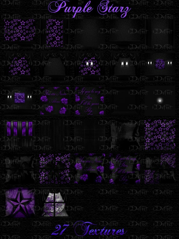 Purple Starz Room Texture