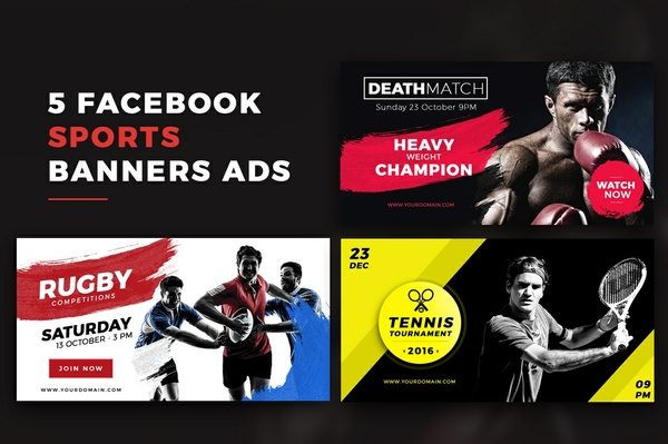Facebook Sports Banners Ads