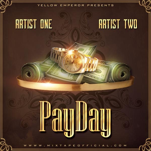 Payday Mixtape Cover Template PSD