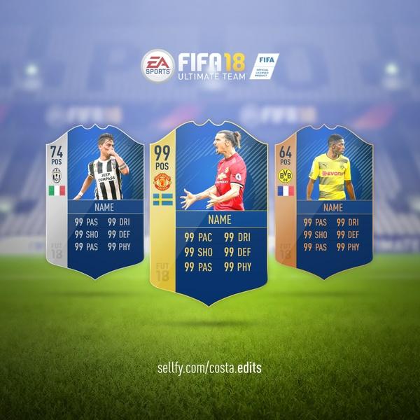 Fifa 18 TOTS card rendition psd!
