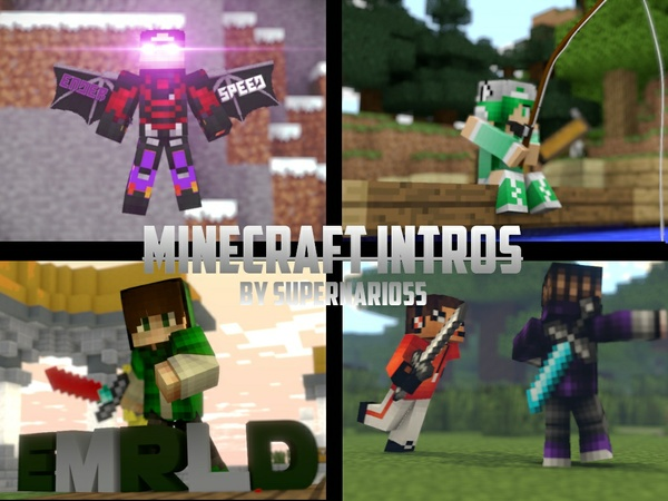 Minecraft Intros By SuperNario55 (Long Wait Time)
