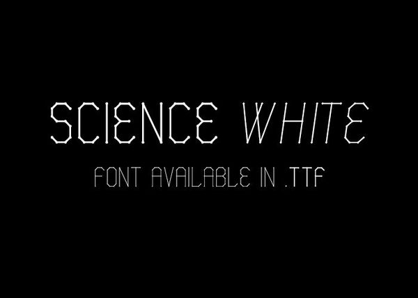 Science White - font.