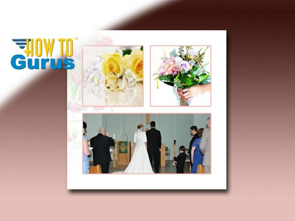 How to Design a Wedding Album Page Layout in Photoshop Elements 14 13 12 11 Tutorial