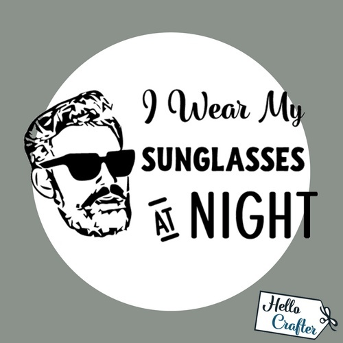 I Wear My Sunglasses At Night Commercial License
