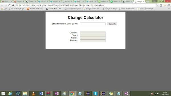 In javaScript I need to 1. Calculate coins 2. Convert Temperature 3. Student Scores