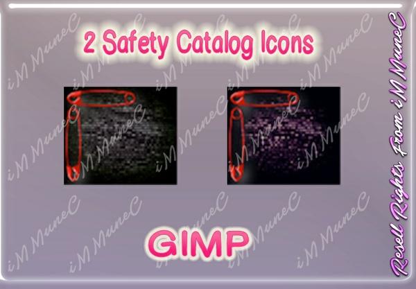 2 Safety Catalog Icons GIMP (Halloween)