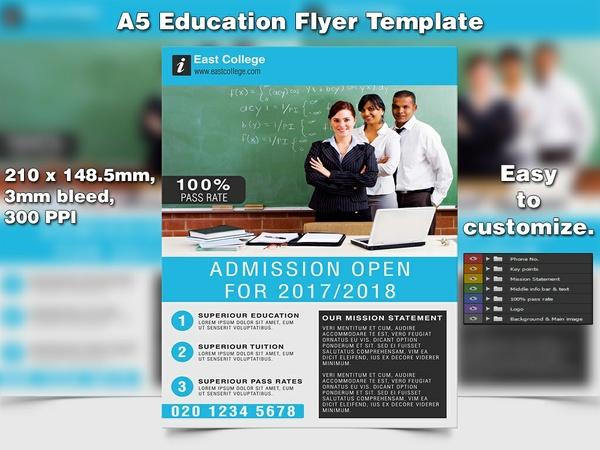 Education Flyer Template (A5 PSD)