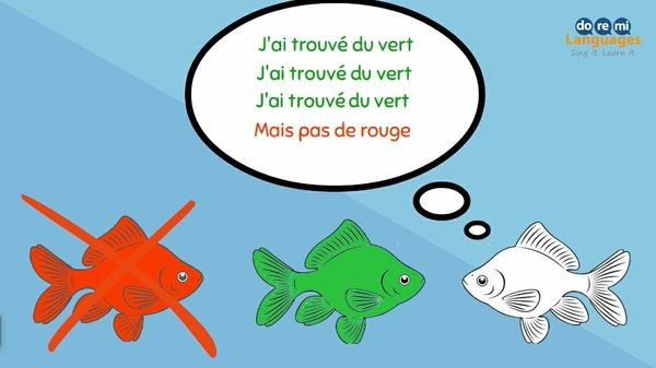 Le poisson rouge (les couleurs)