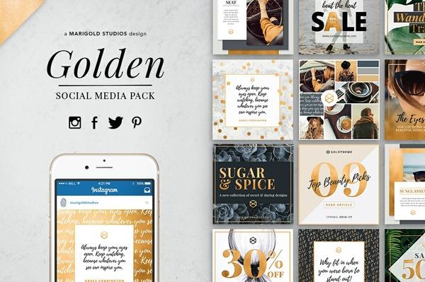 GOLDEN | Social Media Pack