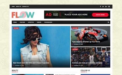 Flow Blogger Template Premium Version