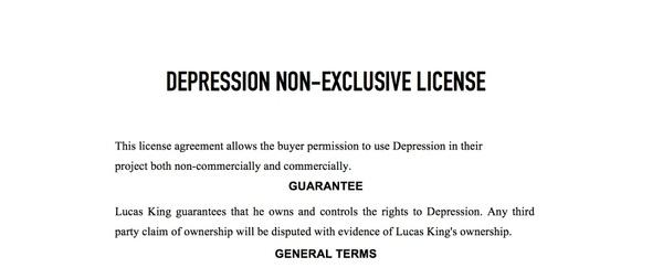 Sad Piano - Depression License