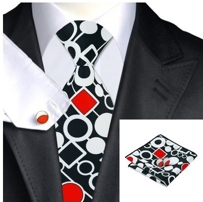 B Royal Designs  Red/Blk/White Tie Set (Shipping Included)