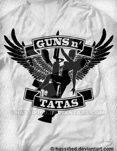 Guns 'N' Tatas - printable, vector, svg, art
