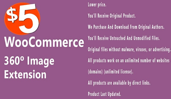 WooCommerce 360 Image 1.1.5 Extension