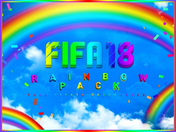 FIFA 18 RAINBOW GFX PACK! BIGGEST FIFA 18 RESOURCES PACK! - @ItsMope_