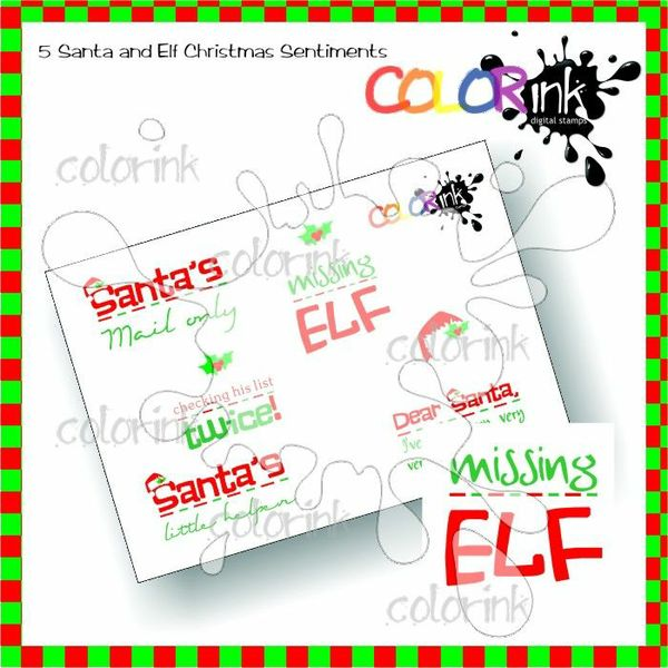 List for Santa  Sentiments Collection