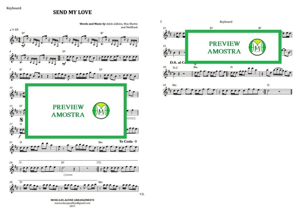 Send My Love | Adele | Keyboard or Violin | Sheet Music Download