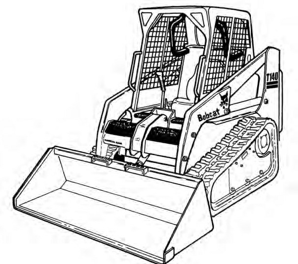 Bobcat T140 Compact Track Loader Service Repair Manual Download(S/N A3L711001 - A3L719999...)