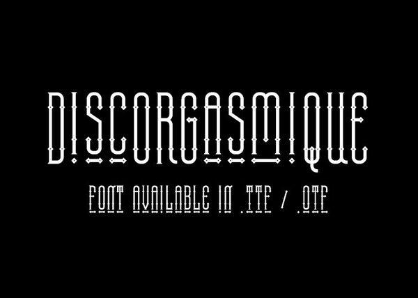 Discorgasmique - font.