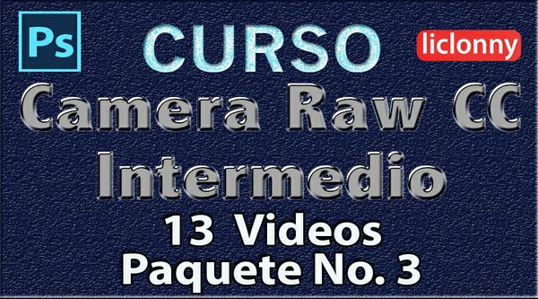 Camera Raw CC. Intermedio Capítulos del 6 al 8. Paquete 3