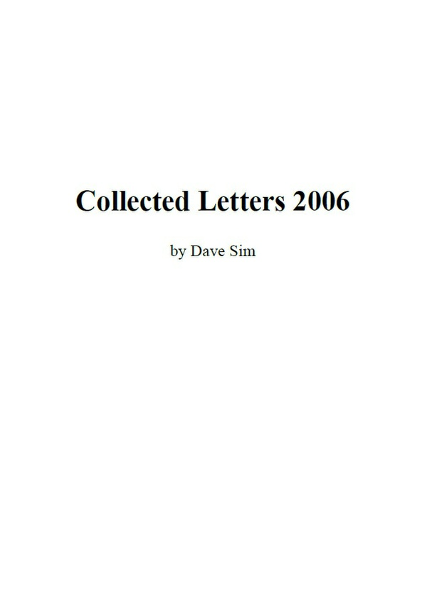 Dave Sim's Collected Letters 2006