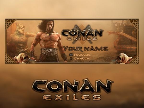 Conan Exiles - Twitter Banner Template