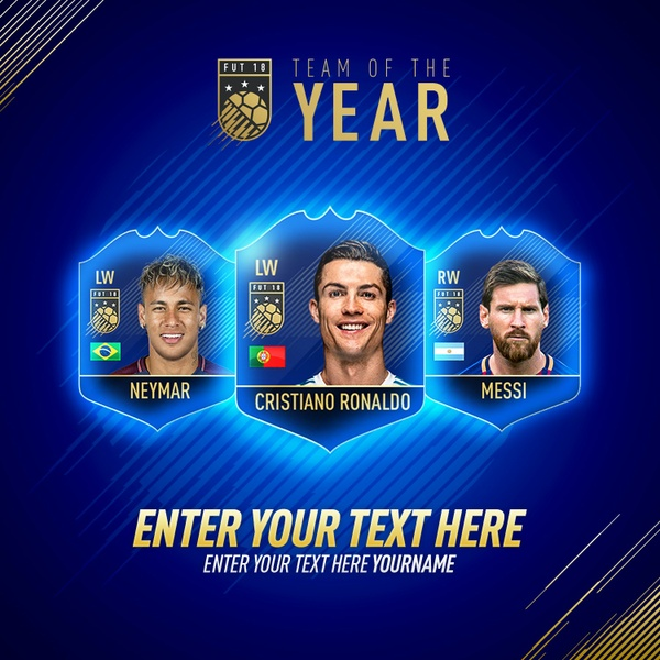 FIFA 18 TEAM OF THE YEAR INSTAGRAM TEMPLATE