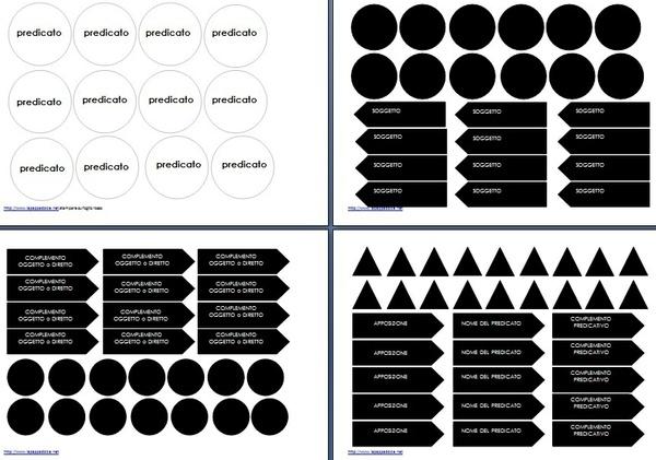 analisi logica Montessori scatola C1c bianco e nero
