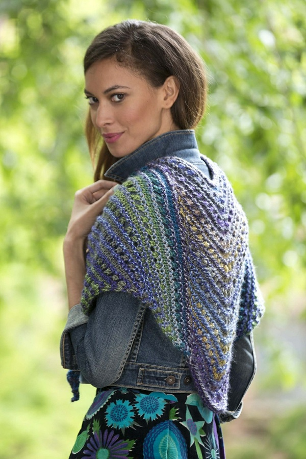 Painted Yarn Lace Shawl