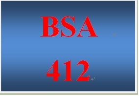 BSA 412 Entire Course
