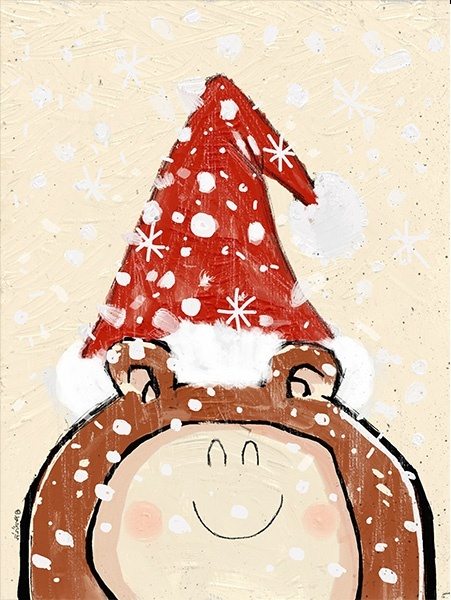 HAPPY CHRISTMAS BEAR! A4 300dpi - FREE DOWNLOAD!