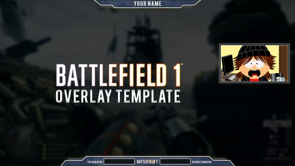 Battlefield 1 Overlay Template