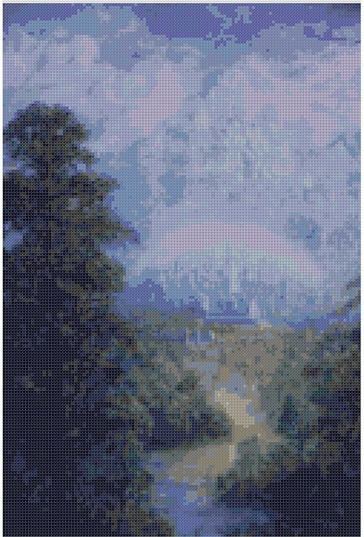 cross stitch pattern Mar-042c