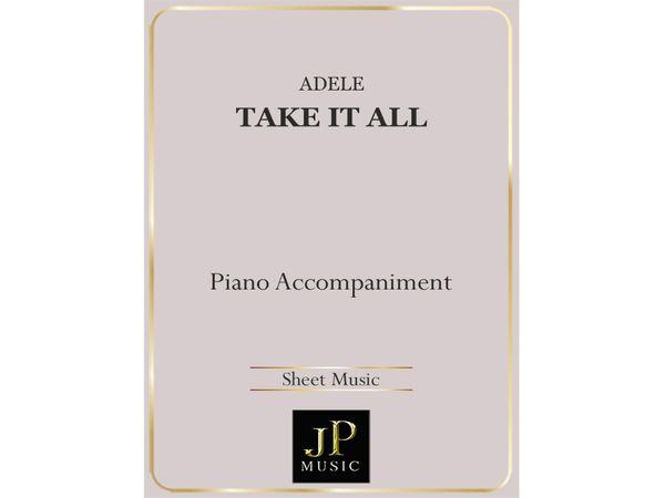 Take It All - Piano Accompaniment