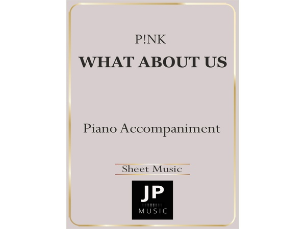 What About Us - Piano Accompaniment