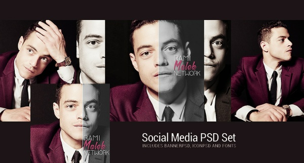 Social Media PSD Set #2