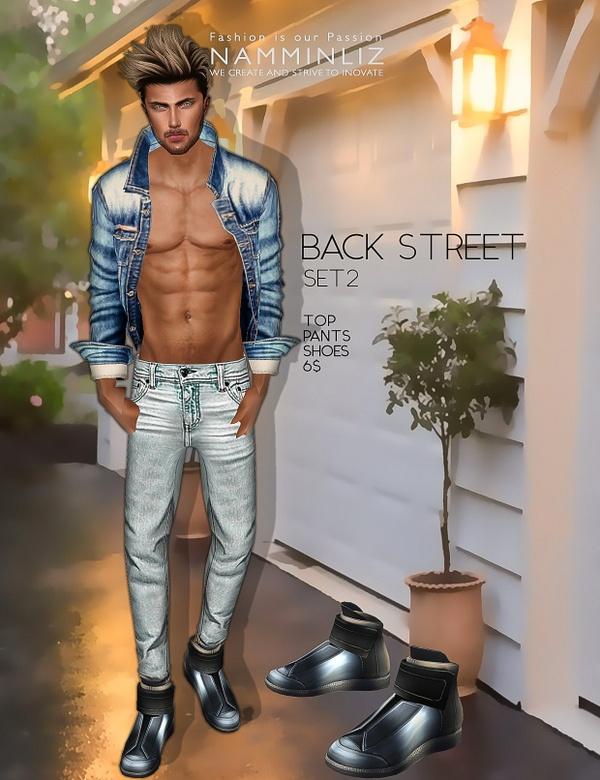 Back Street SET2  imvu Textures JPEG ( Male Top - Pants - Shoes )