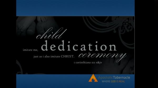 10-02-16am Fall Child Dedication Service 2016