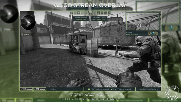 """Counter Strike: Global Offensive"" pre-made twitch overlay"