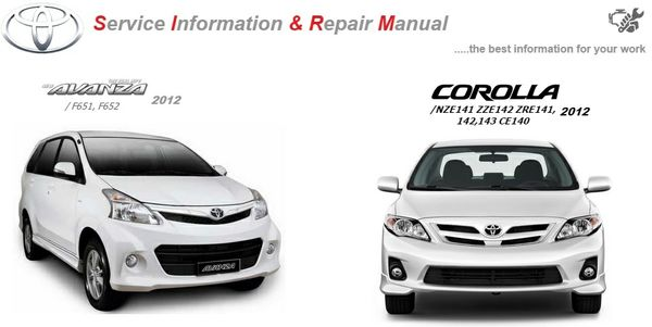 TOYOTA COROLLA & AVANZA 2012 WORKSHOP MANUAL