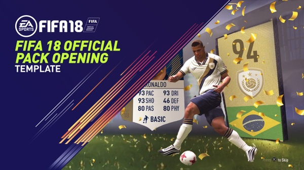 FIFA 18 PACK OPENING ANIMATION THUMBNAIL TEMPLATE - EDITABLE FIFA 18 PACK OPENING