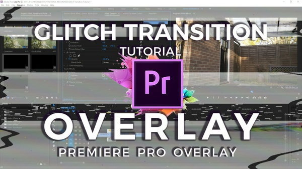 Glitch Transitions Overlays
