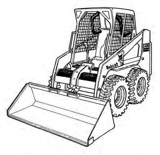 Bobcat S130 Skid-Steer Loader Service Repair Manual Download(S/N 524611001 & Above ...)