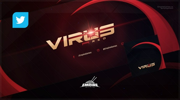 Twitter - Virus (Cover/Avatar) PSD