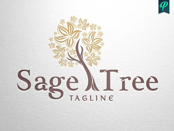 Sage Tree Logo Template